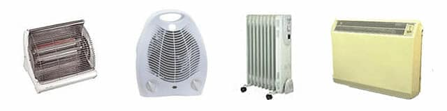 Electric heater types