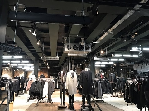 Retail heating from Herschel at All Saints store